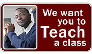 Teach a Class Advertisement